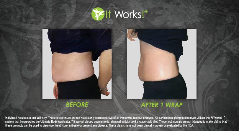 toning body wrap it works ventre avant apres photo