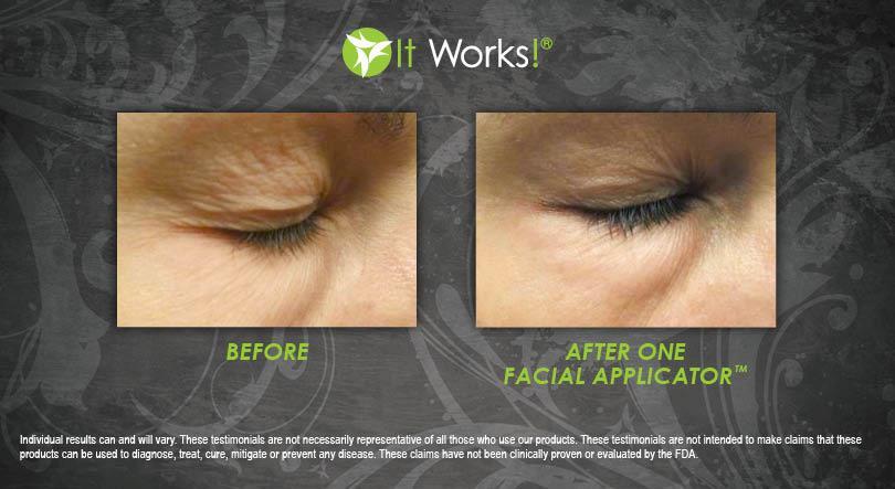 résultat avant apres un wrap visage facial it works yeux cernes