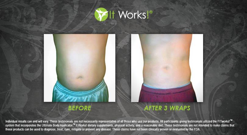 toning body wrap it works ventre homme avant apres photo