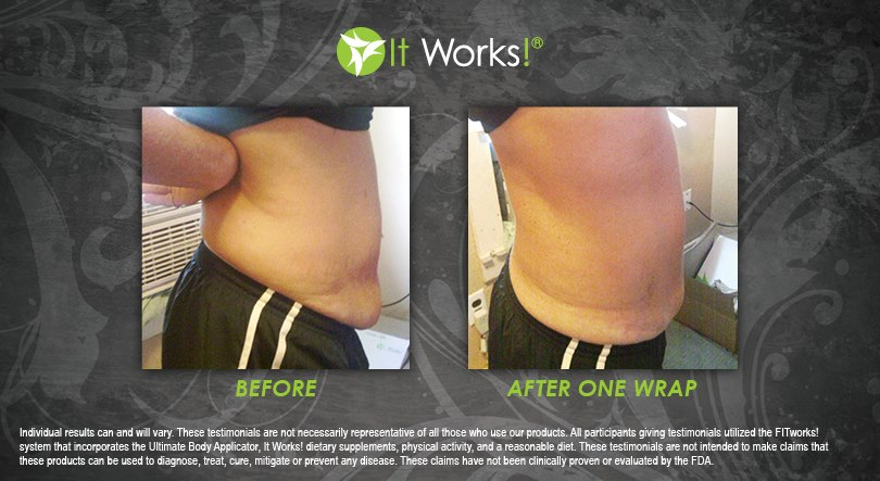 toning body wrap it works ventre avis avant apres photo