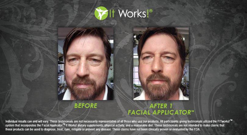 résultat avant apres hydrating facial mask visage it works homme