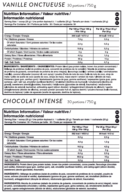 shake it works ingredients etiquette informations nutritionnelles