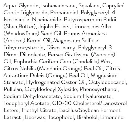 ingredients firming neck treatment