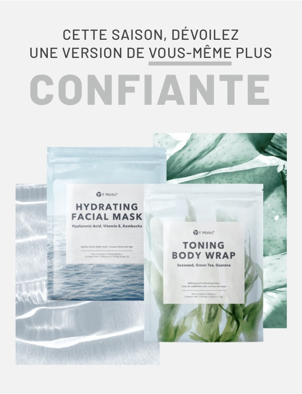 présentation toning body wrap hydrating facial mask it works
