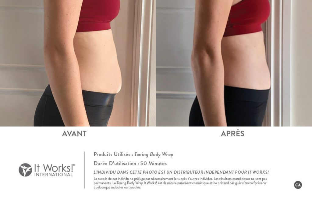 toning body wrap it works avant apres ventre