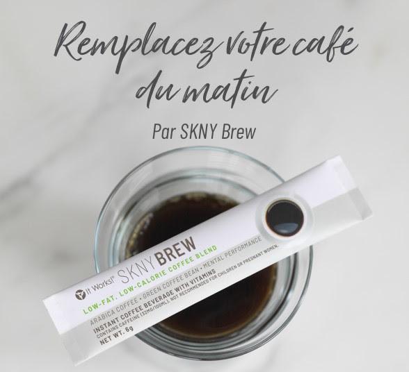 Remplacez votre café par SKNY Brew It Works